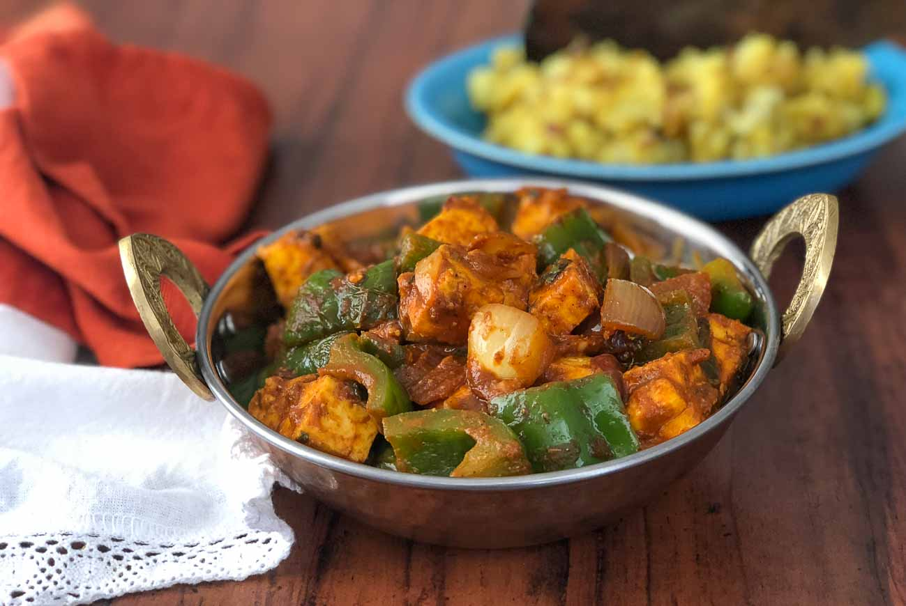 Kadai Paneer Recipe Cottage Cheese with Bell Peppers by Archana s     Kadai Paneer Recipe  Spiced Cottage Cheese with Green Bell Peppers