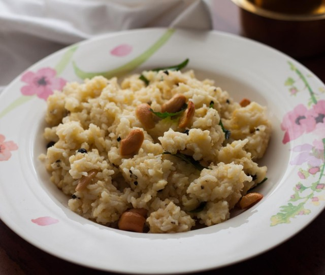 Ven Pongal Recipe Rice And Lentil Pudding By Archanas Kitchen