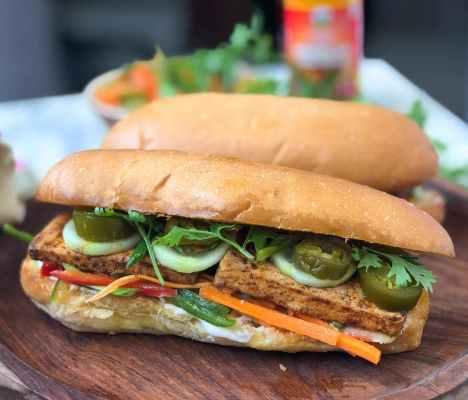 Tofu Bánh Mì Recipe - Vietnamese Grilled Tofu Sandwich by Archana's Kitchen