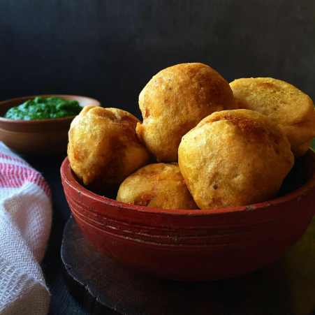 Aloo Dal Pakoras Recipe by Archana's Kitchen