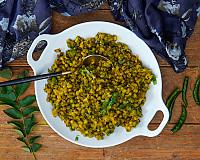 Gujarati Vaghareli Mag Recipe - Whole Green Moong Dal Sabzi Recipe