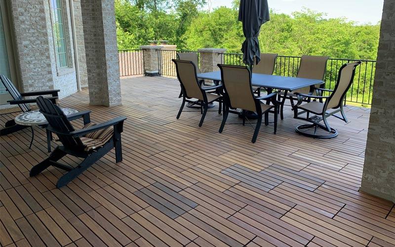 interlocking ipe wood deck tiles from