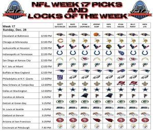 Week 17 Predictions