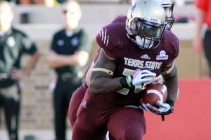 Terrence Franks during a play at Texas State.