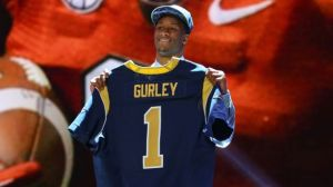 Todd Gurley after the Rams selected him with the 10th overall pick in the 2015 NFL Draft.