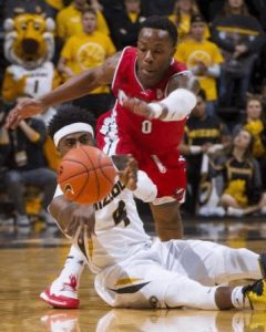 Tramaine Isabell hustles for a loose ball on Friday December 4th, 2015 against Northern Illinois. The Tigers need this kind of energy in tonight's matchup at Georgia. (Photo by L.G. Patterson/Associated Press)