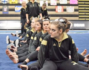 Lindenwood Gymnastics await results against Mizzou - photo: scott criscione