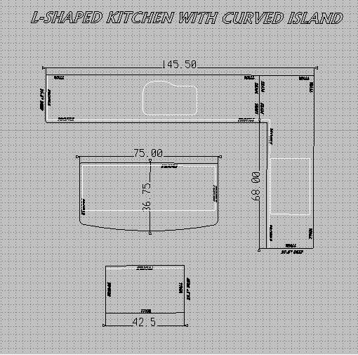 How to figure linear feet of kitchen cabinets for Granite countertops price per linear foot
