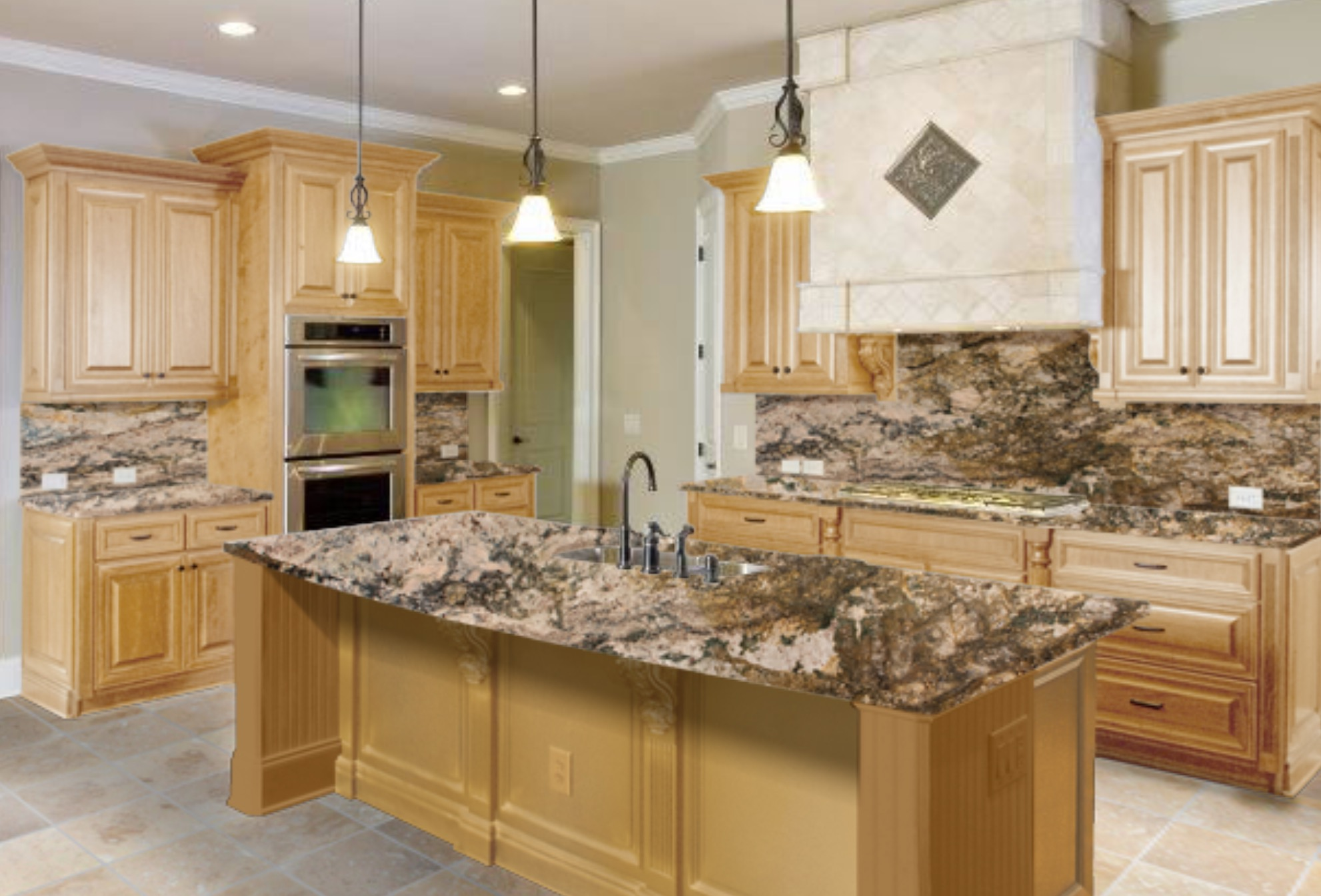 Best Kitchen Gallery: The Right Granite Countertops For Your Maple Cabi of Maple Kitchen Cabinets With Granite Countertops on cal-ite.com
