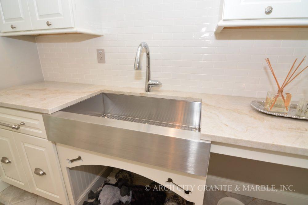preparing food on granite marble