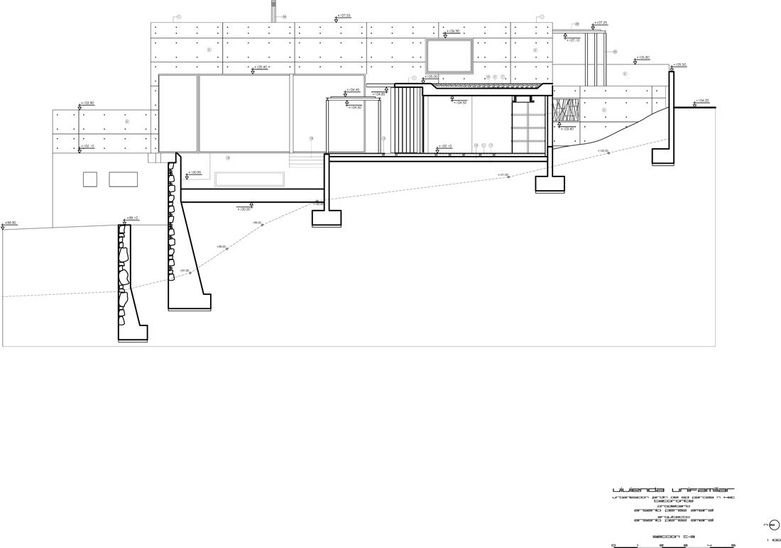 SECCION T3 ALZADO N Model (1) section 04