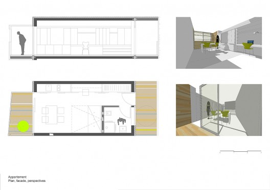 apartment plan & section