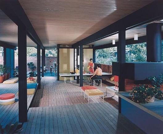 Recreation Pavilion, Mirman Residence, 1959 Arcadia, CA / Buff, Straub and Hensman, architects   © Julius Schulman