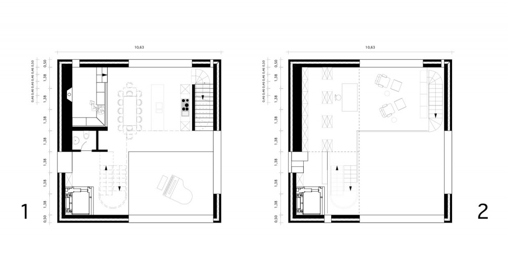 House - Topoi Engelsbrand - Office for Architecture Stocker first & second floor plan
