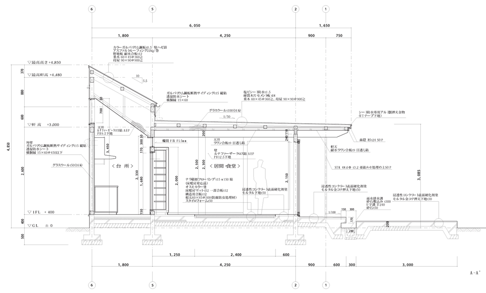B House - Anderson Anderson Architecture - Nishiyama Architects detailed section