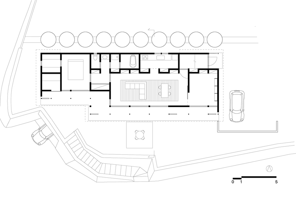 B House - Anderson Anderson Architecture - Nishiyama Architects floor plan