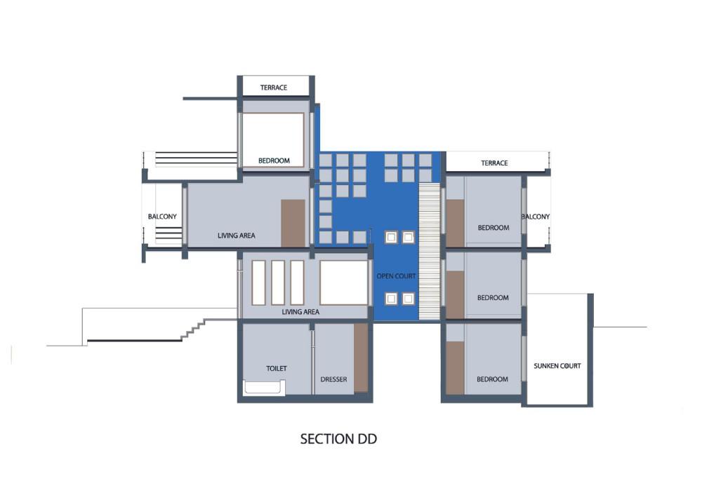 Gairola House - Anagram Architects section