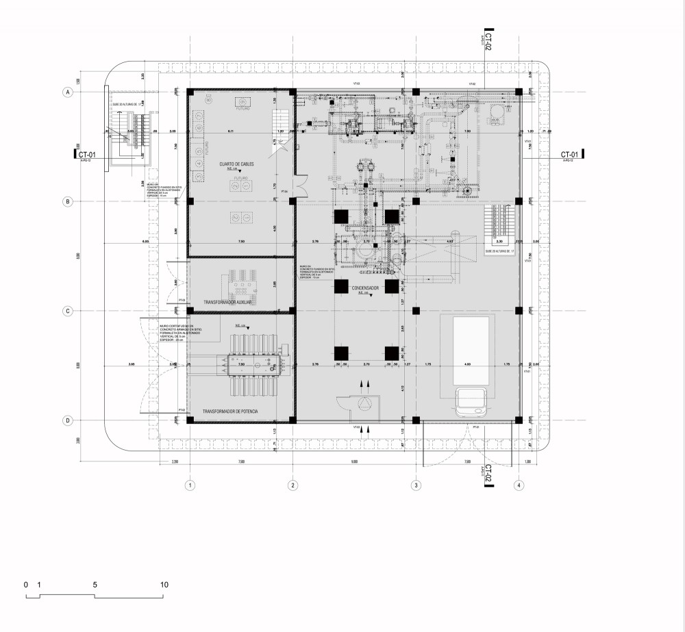 Argos, Building for an Electrical Generator at a Cement Factory - Felipe Gonzalez-Pacheco first floor plan