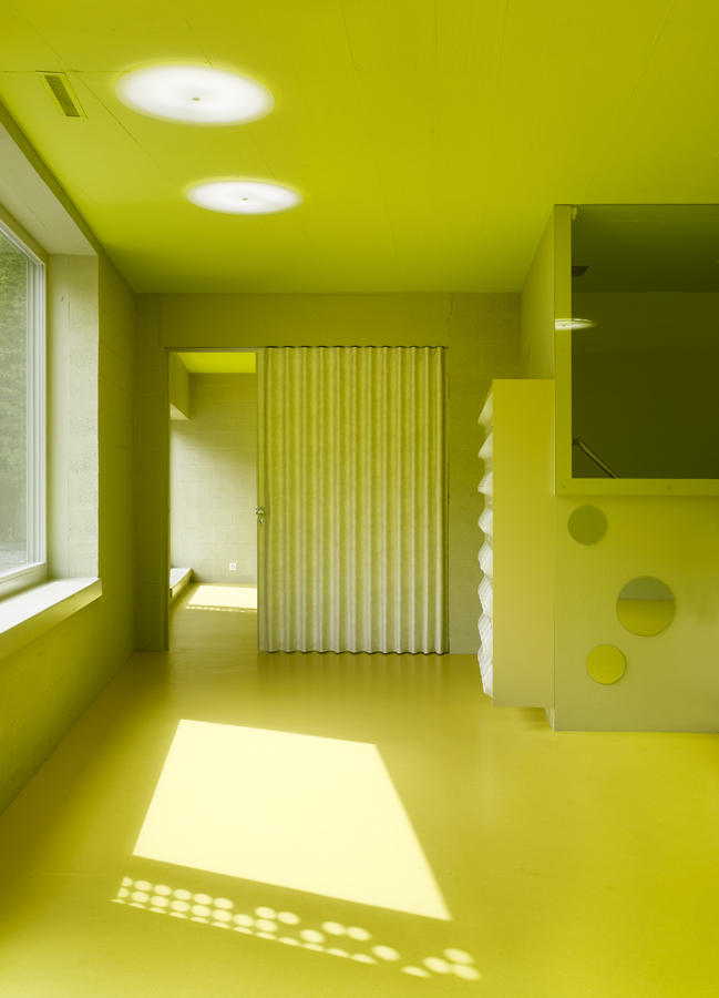 Monthey Kindergarden - Bonnard Woeffray Architectes © Hannes Henz