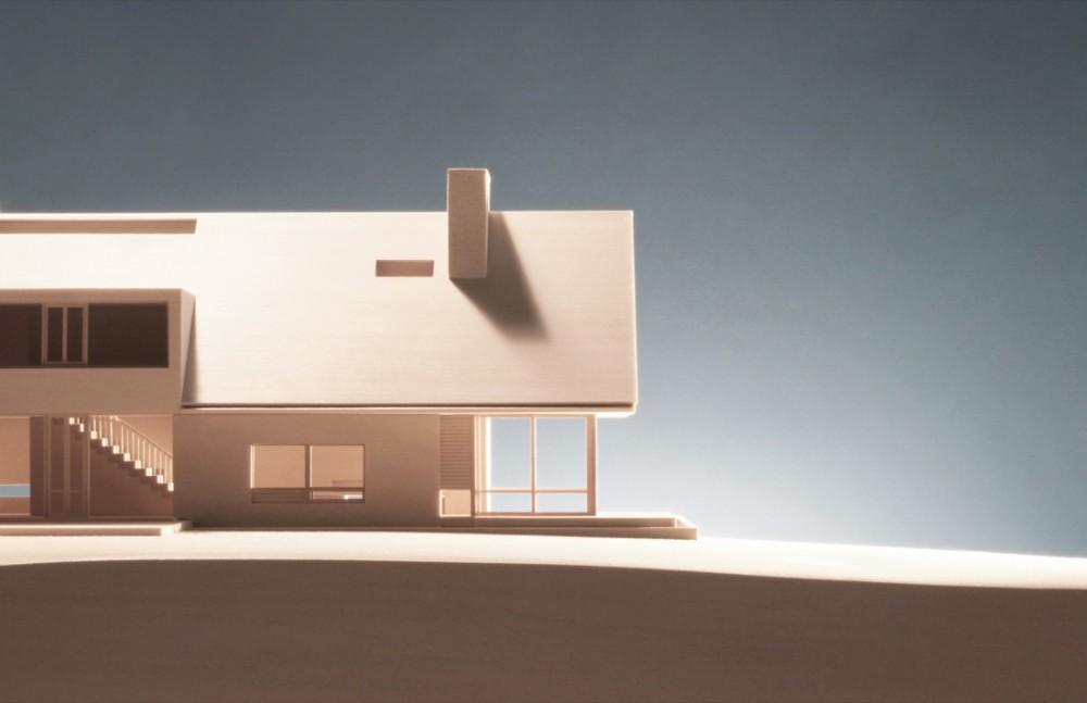 Greenwich House - Julian King Architect wooden model