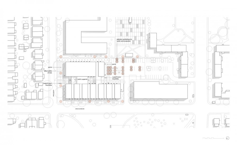 CMA_NDG_02_Site_plan Courtesy of Chevalier Morales Architectes