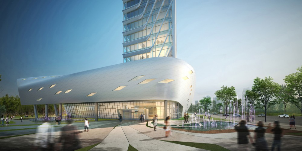 The Korea Teachers Pension Head Office / Tomoon Architects and Engineers Courtesy of Tomoon Architects and Engineers
