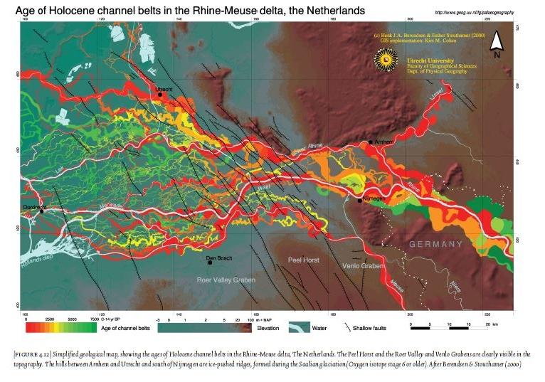 De ontwikkeling van het landschap in het Kromme Rijngebied