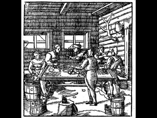 Donne alla cernita nel XVI secolo