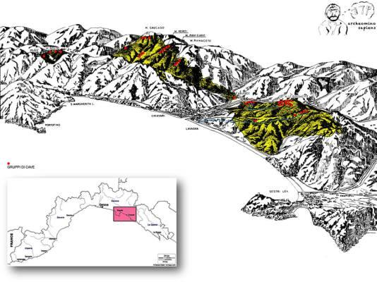 La regione ardesia della Liguria Orientale