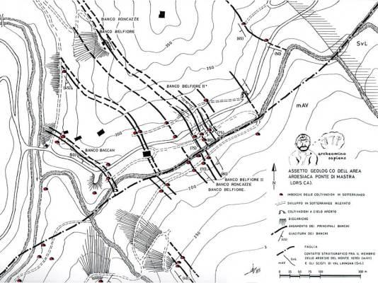 L'assetto dei banchi di ardesia in località Ponte di Mastra (Lorsica)