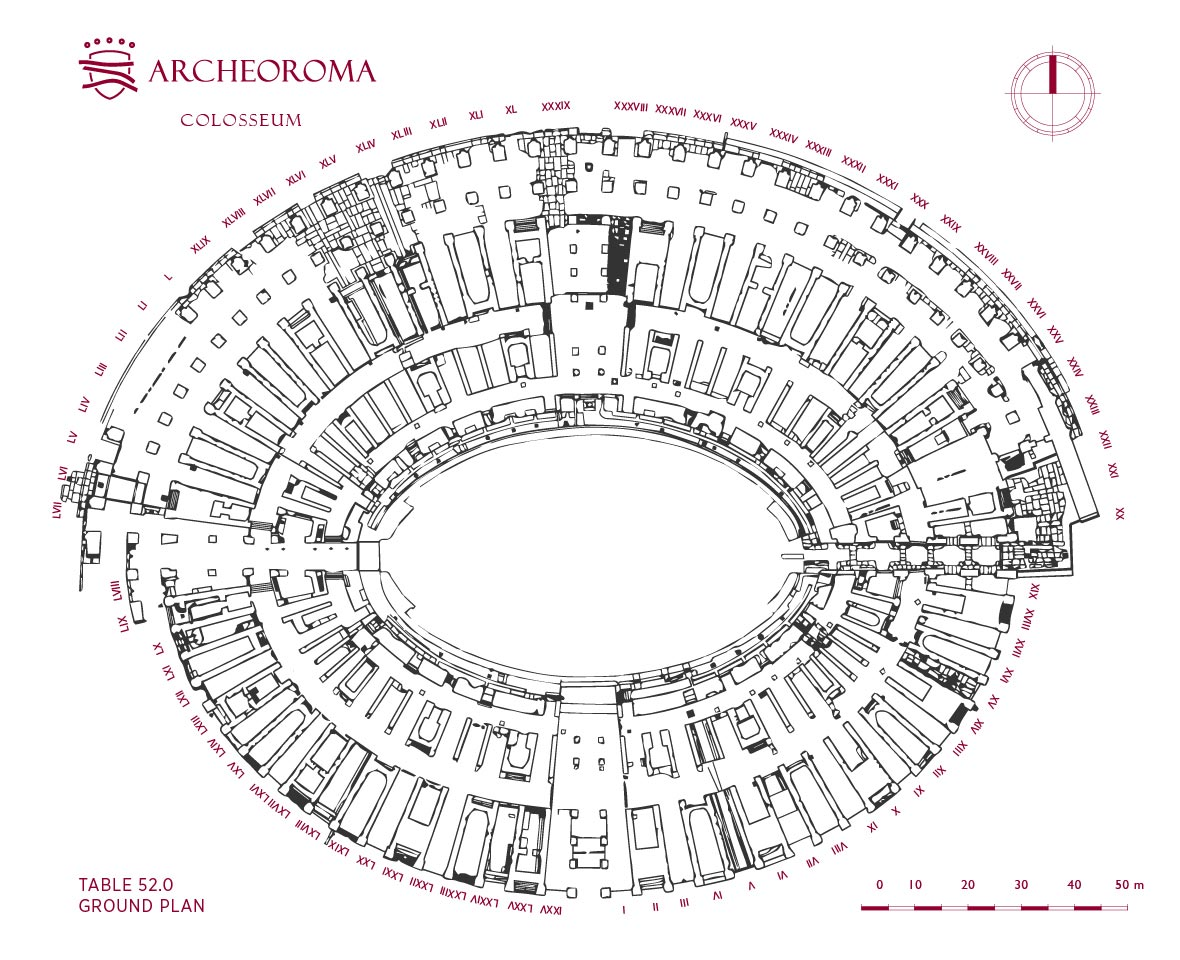 Ground Plan Of The Colosseum Flavian Amphitheatre