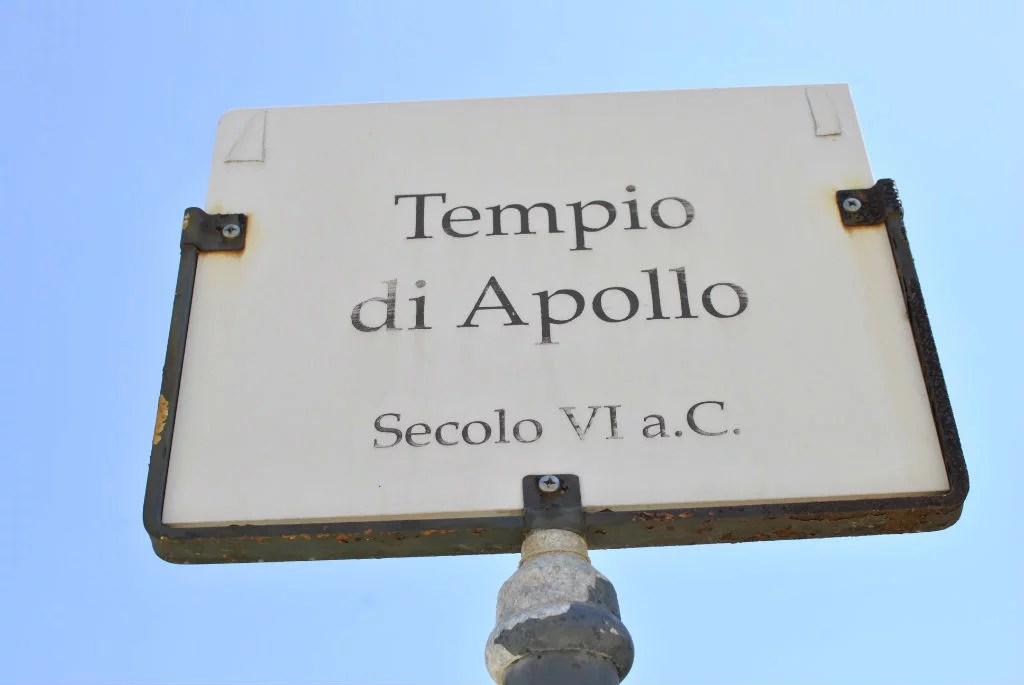 Tempio di Apollo, Welcome to Siracusa