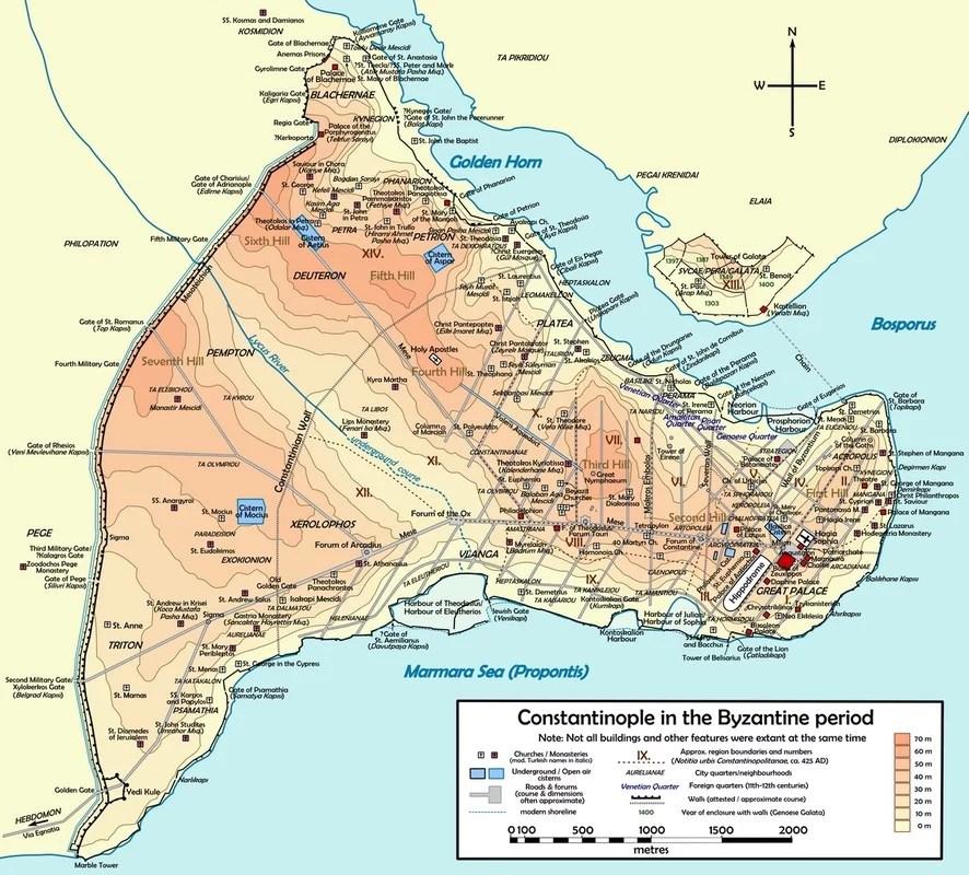 Costantinopoli, mappa