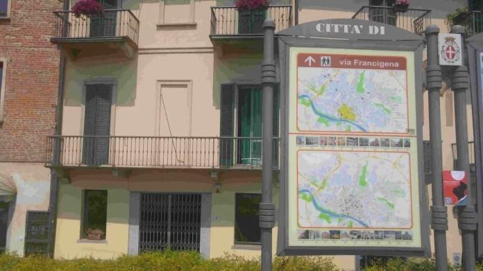Cartellone Pavia via Francigena