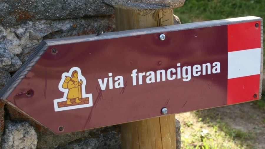 Via francigena, cartello, segnaletica