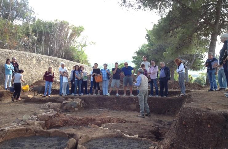 Fondazione Isola d'Elba in visita sullo scavo