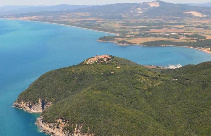 Panoramix, veduta panoramica del Castello di Populonia