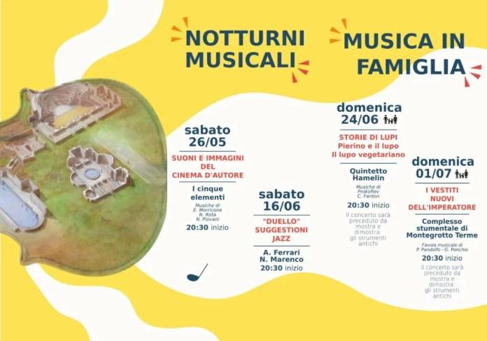 Programma concerti area archeologica di Montegrotto