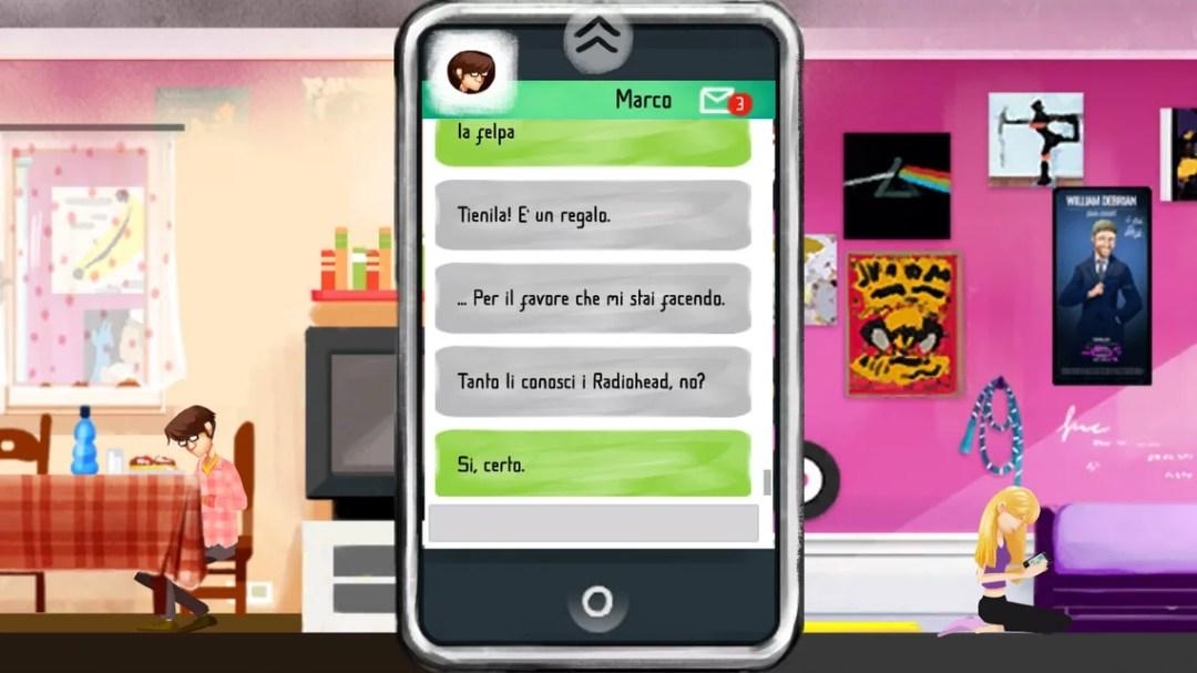TuoMuseo, A life in Music - Screenshot dal videogioco Antonio e Silvia