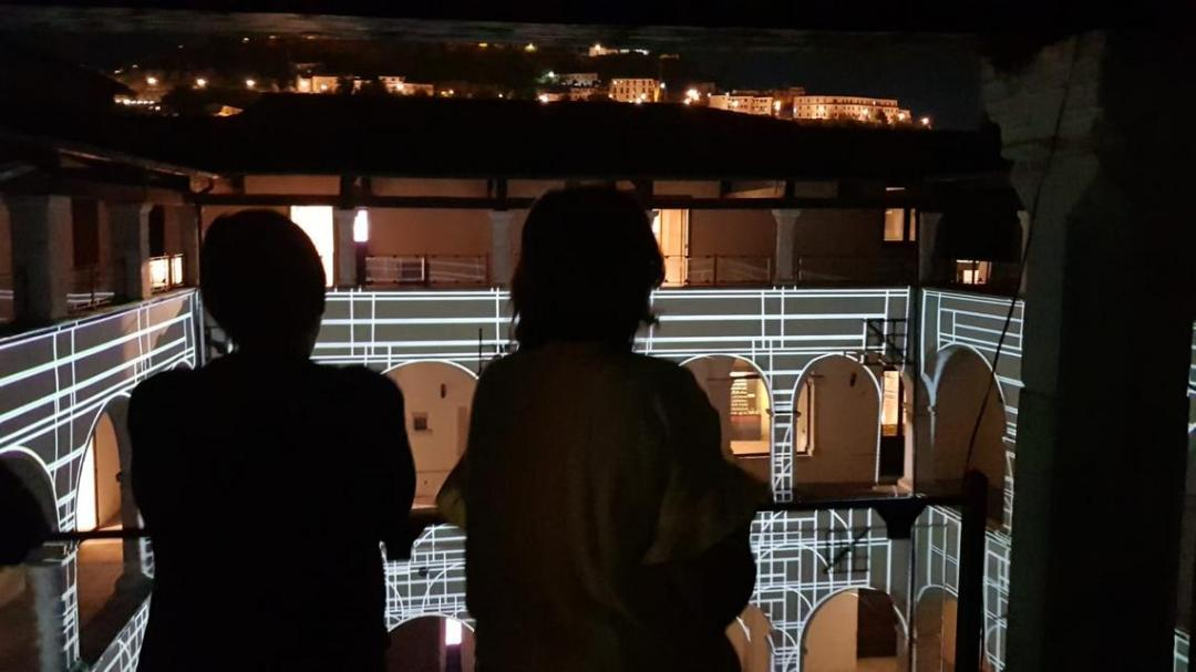 Videomapping nel chiostro di Sant'Agostino