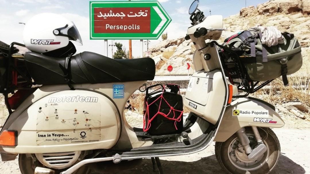 Iran in Vespa Persepoli