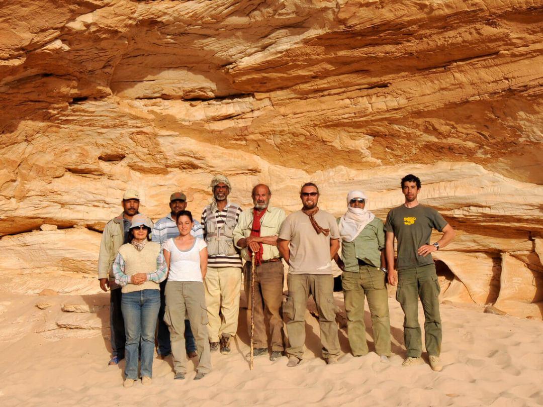 Gilf Kebir foto di gruppo