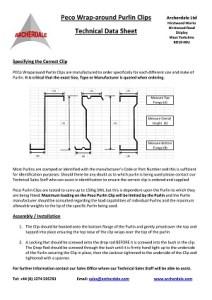 Purlin Clip Technical Data Sheet