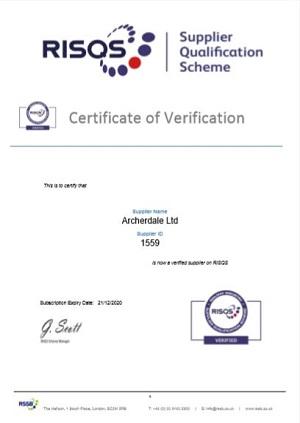 RISQS Certificate 2019-2020