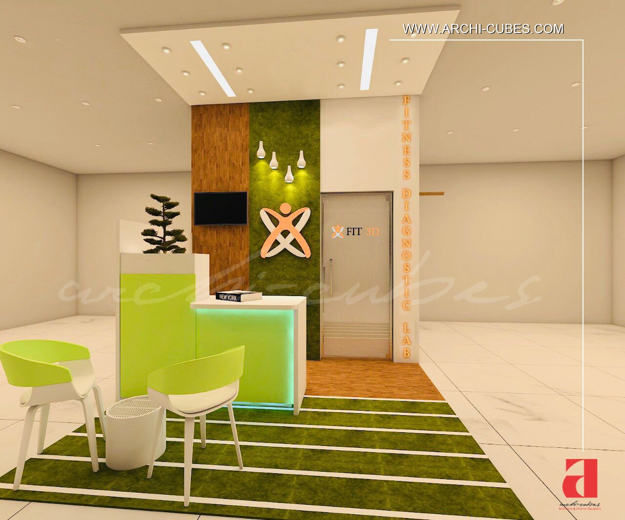 fit3d3 Lab Interior By Archi Cubes