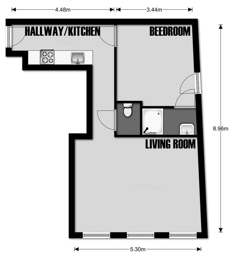 house floor plans no hallways. Original layout  Completed 2011 Surface 52m Re House no 24 Adapting Existing Archi