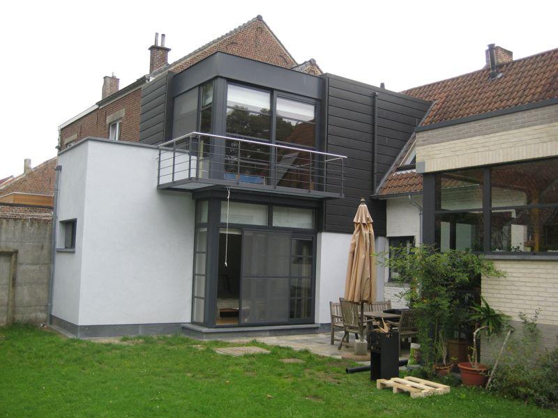 Extension d une maison 3 fa ades itterbeek dilbeek - Annexe maison ossature bois ...