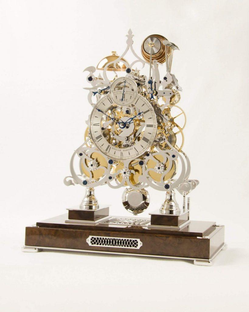 New Three Train Skeleton Clock