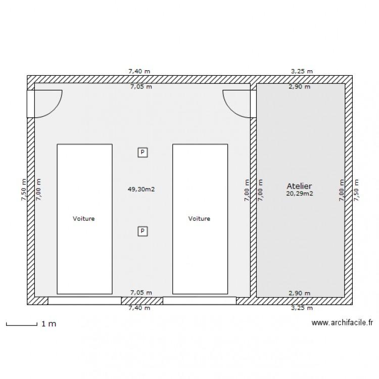 Garage 2 Voitures Plan 2 Pices 70 M2 Dessin Par Nono16