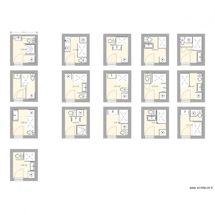Salle De Bain 4m2 Plan 17 Pieces 68 M2 Dessine Par Defaup